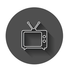 tv icon in line style television symbol for web vector image