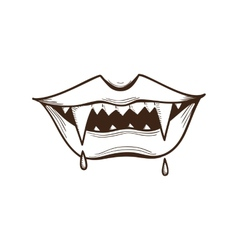 Vampire mouth vector