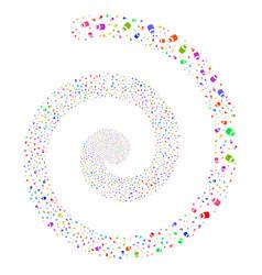 Vial fireworks spiral vector