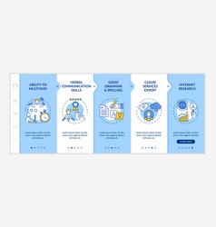 Virtual assistant skills onboarding template vector