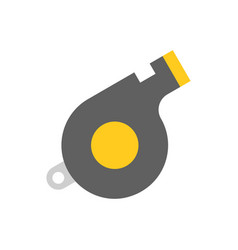 whistle police related icon flat style vector image