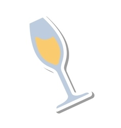 wine glass isolated icon vector image