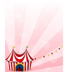 A stationery with a circus tent design vector image
