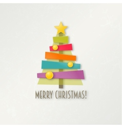 Abstract colorful Christmas tree Greeting card vector image vector image