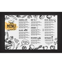 Cafe menu restaurant brochure Food design template vector image vector image