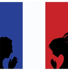 France national flag People man and woman hands vector image vector image