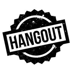 Hangout rubber stamp vector