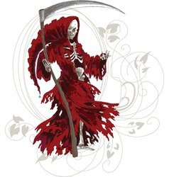 Red Death Art Nouveau vector image