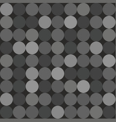 Tile pattern with big white grey and black dots vector