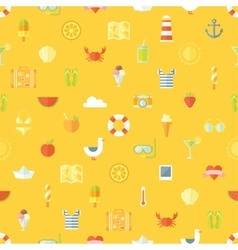 Travel vacation flat design seamless pattern vector image