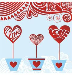 Valentines day card hearts love vector