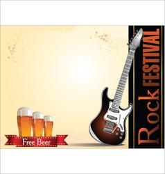 Rock festival free beer vector image vector image