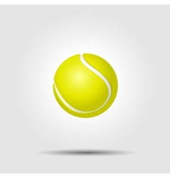 Tennis ball on white background with shadow vector image vector image