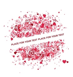 Valentine frame design with place for your text vector image vector image