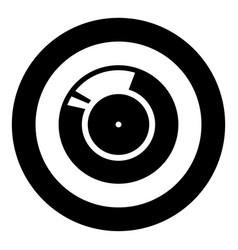 vinyl record retro sound carrier black icon in vector image