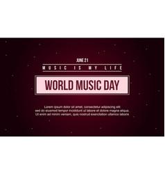 world music day celebration art vector image