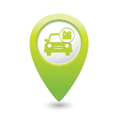 car with accumulator icon pointer green vector image vector image