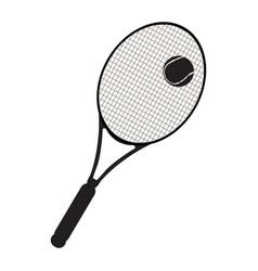 isolated tennis racket vector image