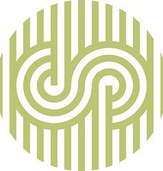 Logo Letter Line S Alphabet Design vector image
