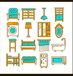minimalistic modern convenient furniture isolated vector image vector image