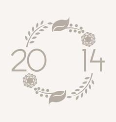 2014 Wreath vector image