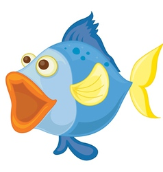 a blue fish vector image vector image