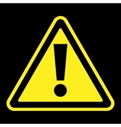 attention sign on black background vector image vector image