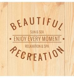 Beautiful recreation vector