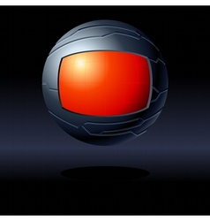 red and black futuristic globe vector image