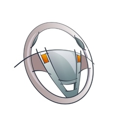 Steering Wheel Concept vector image