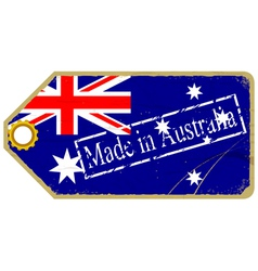 Vintage label with the flag of Australia vector image vector image