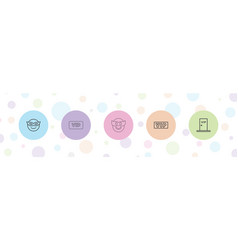 5 very icons vector