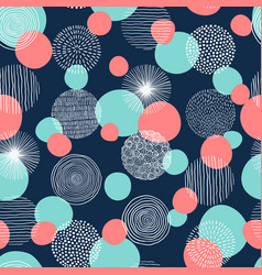 abstract geometric seamless pattern with doodle vector image