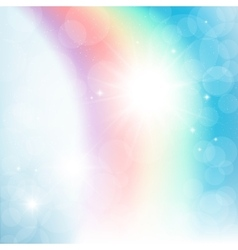 Abstract rainbow in the sky vector image