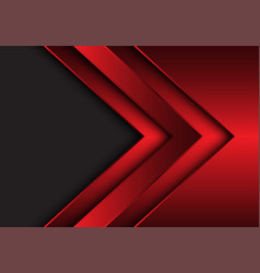Abstract red metallic arrow direction with grey vector