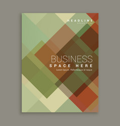 abstract shapes business brochure flyer cover vector image