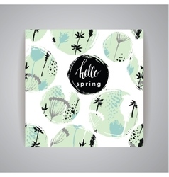 Artistic creative Hand Drawn spring Design vector image