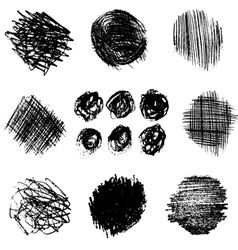 Artistic set of pencil hatching 3 vector image