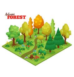 Autumn forest concept vector