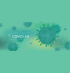 Background with viral cells coronavirus vector