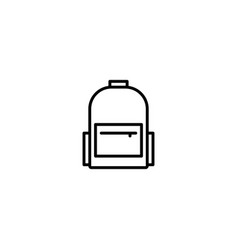 backpack bag icon vector image