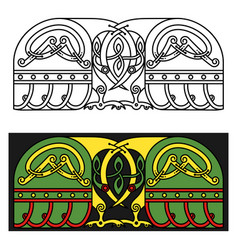 banner in celtic style with a bird vector image