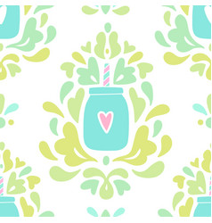 Beautiful smoothie ornaments background vector
