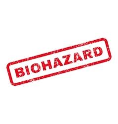 Biohazard Text Rubber Stamp vector
