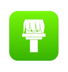 Box magic icon digital green vector