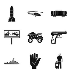 burden icons set simple style vector image