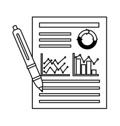 business chart report vector image