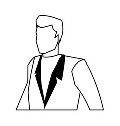Business man manager work dynamic vector