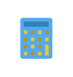 Calculator calculate education flat color icon vector
