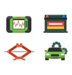 Car service repair icons set vector image